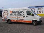 polep dodávky - okna Ševčík