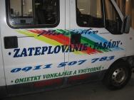 barevný polep užitkového vozu
