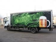 UV tisk na nákladním voze pivovaru Starobrno