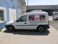 velkoformátový tisk a následný polep užitkového vozu