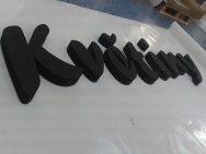 3D písmo z polystyrenu