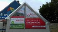 reklamní banner včetně montáže