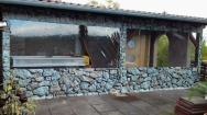plachtové krytí letní terasy s originálním UV potiskem