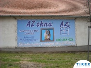 reklamní banner AZ okna s montáží