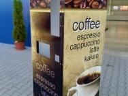 potištěný kryt automatu na kávu