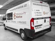 polep užitkového automobilu pro firmu Dřevostavby Milotice